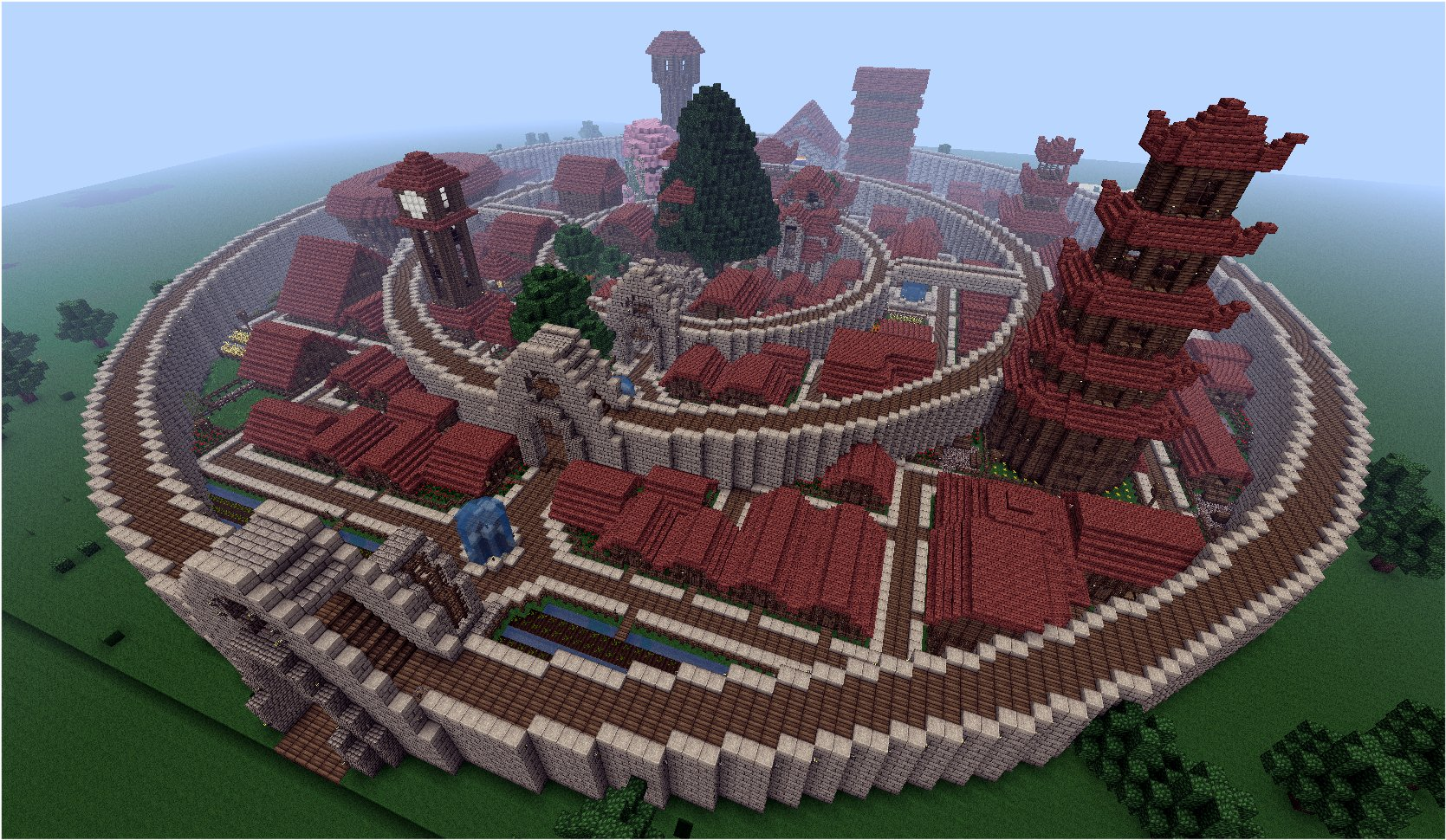 minecraft  walled city  by rfextra d4h2jwa1 40 Outstanding Minecraft Creations