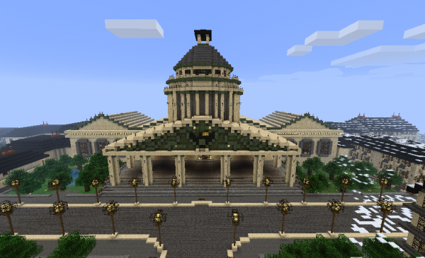 minecraft builds   city hall by them4cgodfather d4n80x6 600x3651 40 Outstanding Minecraft Creations