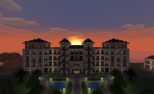minecraft pixel art   hotel by them4cgodfather d4n80qr 600x3651 40 Outstanding Minecraft Creations