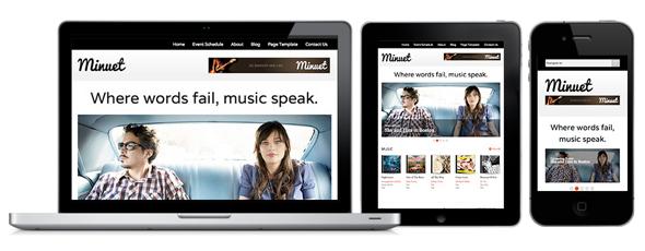 minuet 40 Premium Responsive Portfolio WordPress Themes