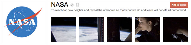 nasa1 25 Great Examples of Google Plus Brand Pages