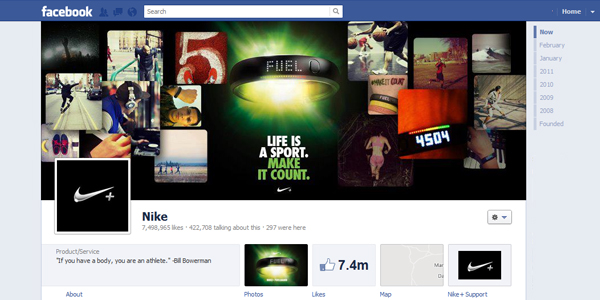 nike New Facebook Timeline for Brands: Rookie to Pro Guide