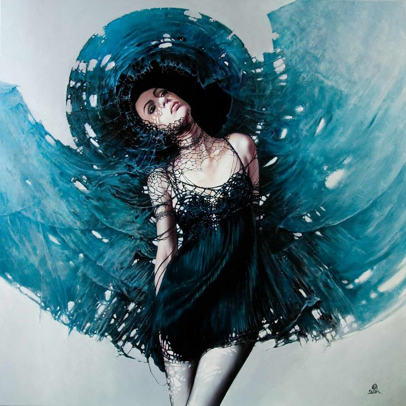 oko cyklonu ii 100x100cm1 20 Elegant Examples of Traditional Art by Karol Bak