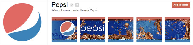 pepsi1 25 Great Examples of Google Plus Brand Pages