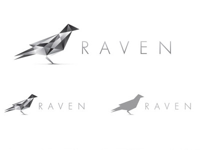 raven logo sm1 55 Pleasant Examples of Bird Logo Designs
