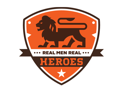 realmenrealheroes1 50 Fierce Examples Of Lion Logos