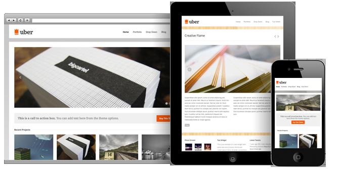 responsive wordpress portfolio themes 011 40 Premium Responsive Portfolio WordPress Themes