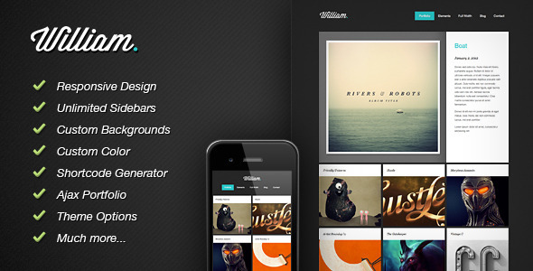40 Premium Responsive Portfolio WordPress Themes | Inspirationfeed