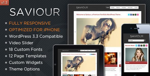 responsive wordpress portfolio themes 211 40 Premium Responsive Portfolio WordPress Themes