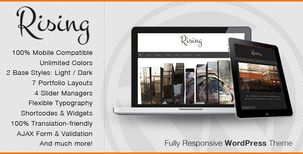 responsive wordpress portfolio themes 291 40 Premium Responsive Portfolio WordPress Themes