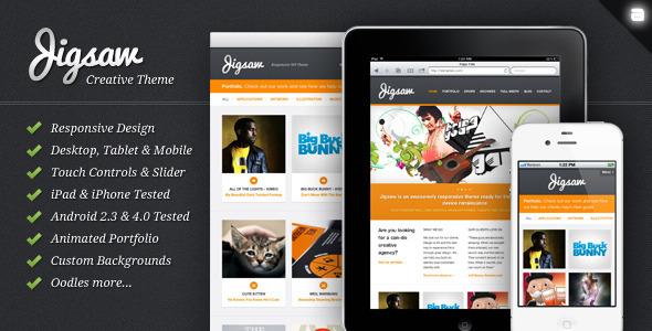 responsive wordpress portfolio themes 321 40 Premium Responsive Portfolio WordPress Themes