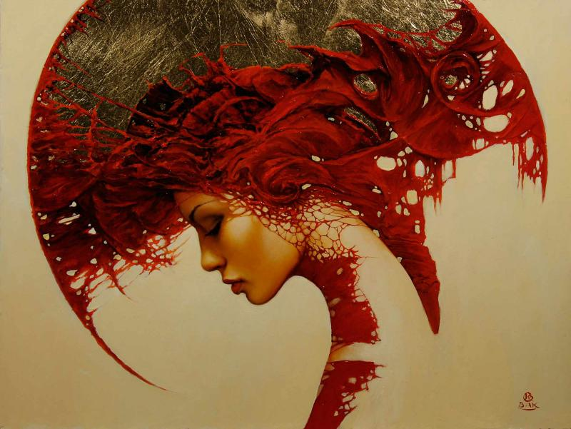 rewers cykl aureole 41x54 cm 2011r1 20 Elegant Examples of Traditional Art by Karol Bak