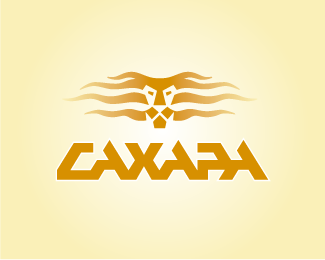 sahara1 50 Fierce Examples Of Lion Logos