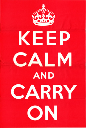 scan of original poster 1939 300px1 25 Creative Keep Calm and Carry On Posters