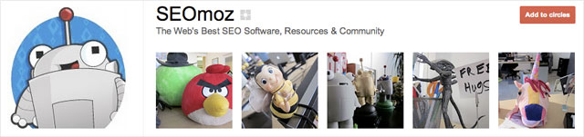 seomoz1 25 Great Examples of Google Plus Brand Pages