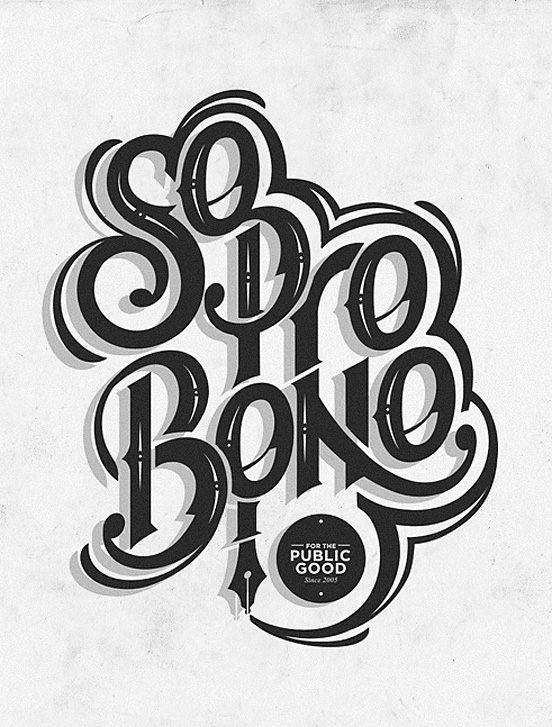 so pro bono l1 50 Remarkable Examples Of Typography Design #7
