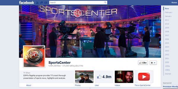 sportscenter New Facebook Timeline for Brands: Rookie to Pro Guide