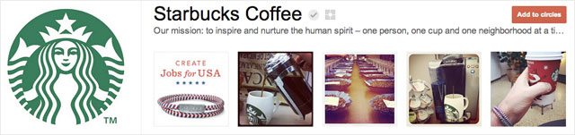 starbucks coffee1 25 Great Examples of Google Plus Brand Pages