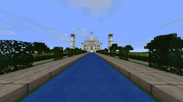 taj mahal 600x3371 40 Outstanding Minecraft Creations