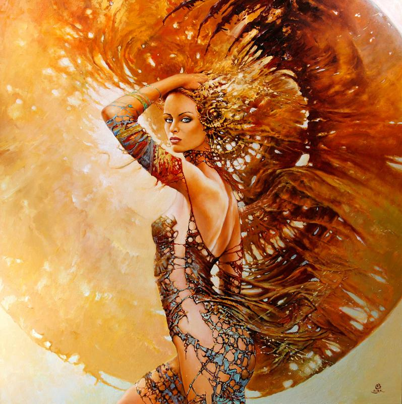 the mistress of chaos 100x100cm 20121 20 Elegant Examples of Traditional Art by Karol Bak