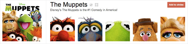 the muppets1 25 Great Examples of Google Plus Brand Pages