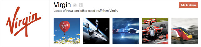 virgin1 25 Great Examples of Google Plus Brand Pages