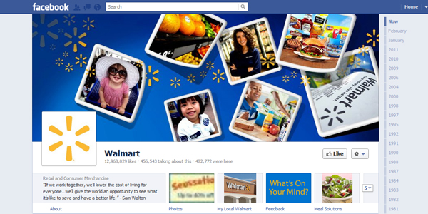 walmart New Facebook Timeline for Brands: Rookie to Pro Guide
