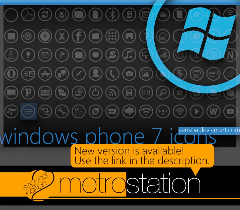 windows phone 7 icons by yankoa d2qvmho1 20+ Free Windows Phone 7 Mockup and Wireframing Resources