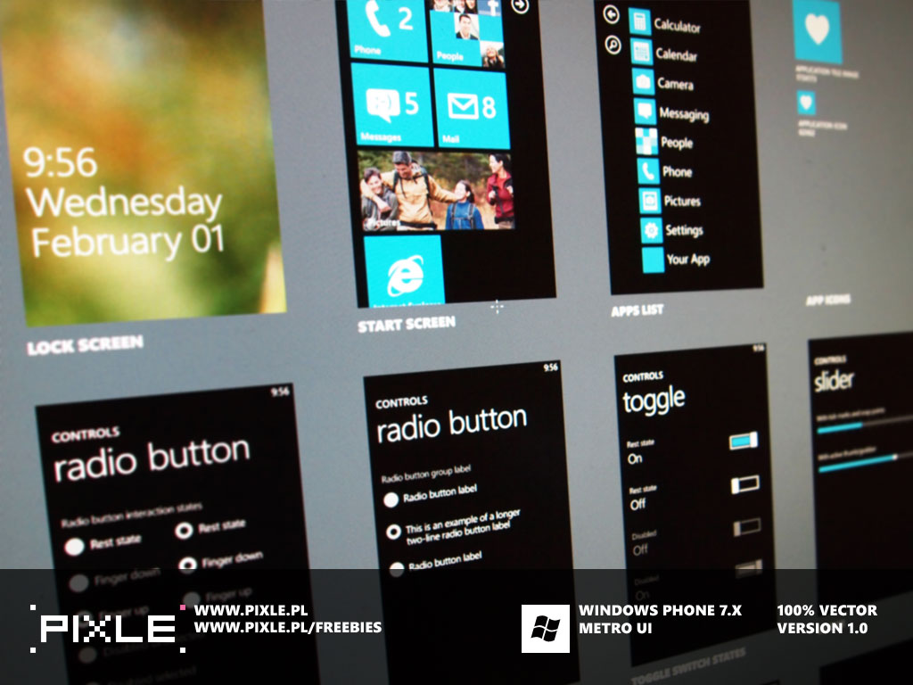 wp7 preview1 20+ Free Windows Phone 7 Mockup and Wireframing Resources