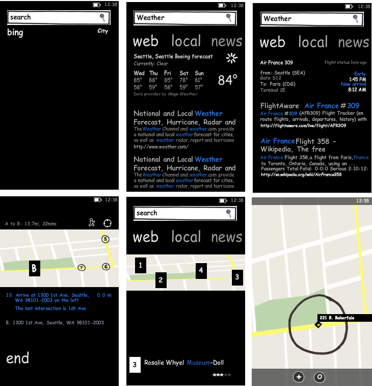 wp7bingscreens1 20+ Free Windows Phone 7 Mockup and Wireframing Resources
