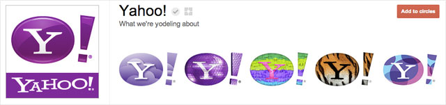 yahoo1 25 Great Examples of Google Plus Brand Pages