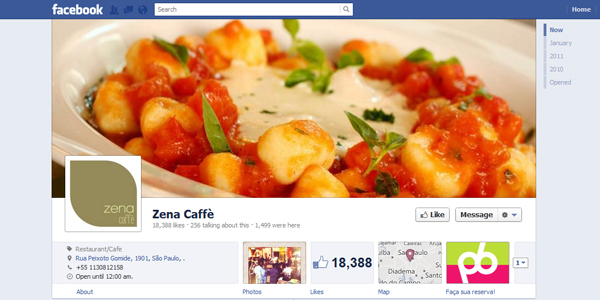 zena caffe New Facebook Timeline for Brands: Rookie to Pro Guide