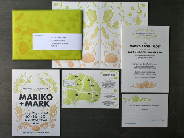0002 studioonfire kostreva wedding stationery 600x4501 30 Uniquely Designed Wedding Invitations