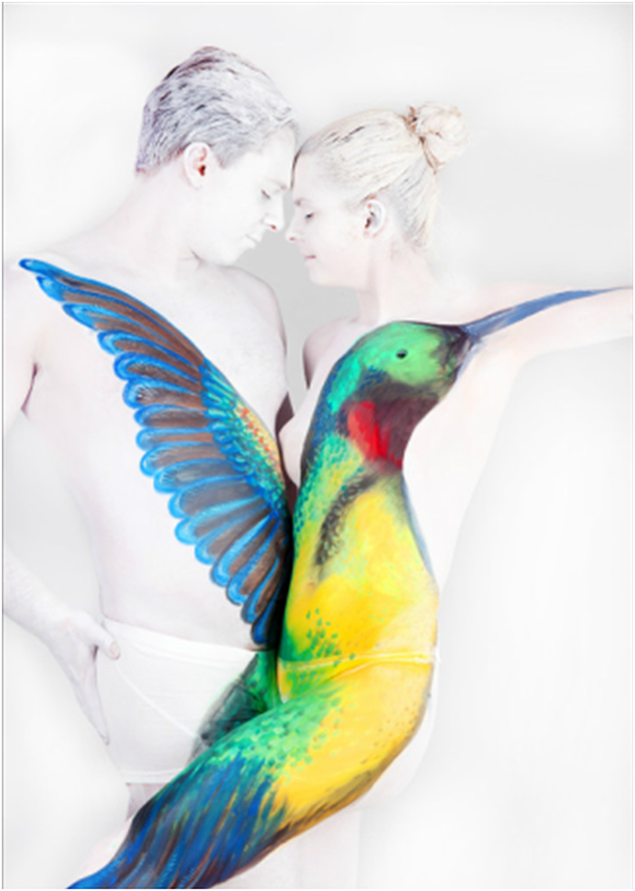 10 gesinemarwedel pinturacorporal1 Beautiful Body Paintings by Gesine Marwedel
