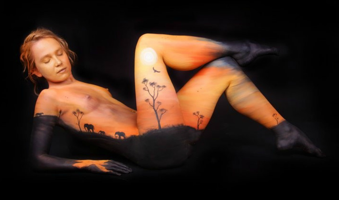 4454761 Beautiful Body Paintings by Gesine Marwedel