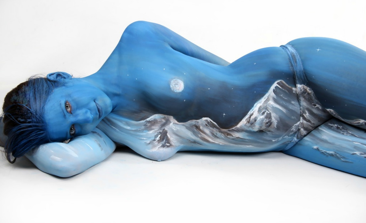 4454831 Beautiful Body Paintings by Gesine Marwedel