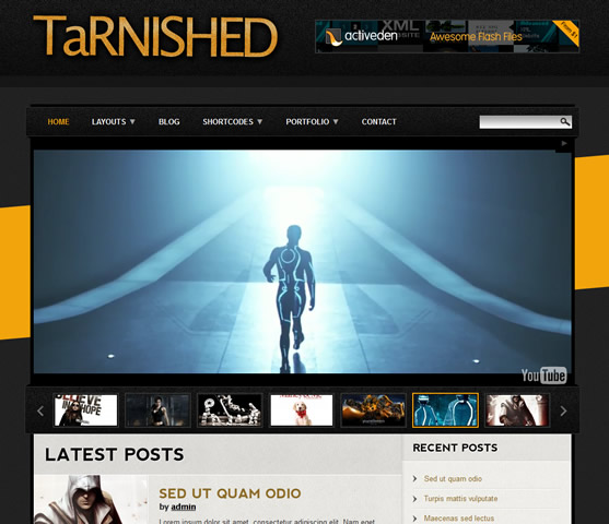 5 tarnished theme themeforest Top 15 Video Themes For Wordpress