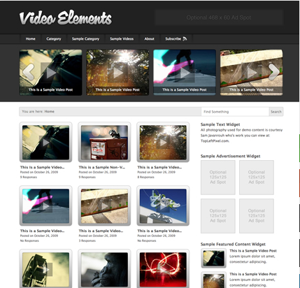 7 video flick Top 15 Video Themes For Wordpress