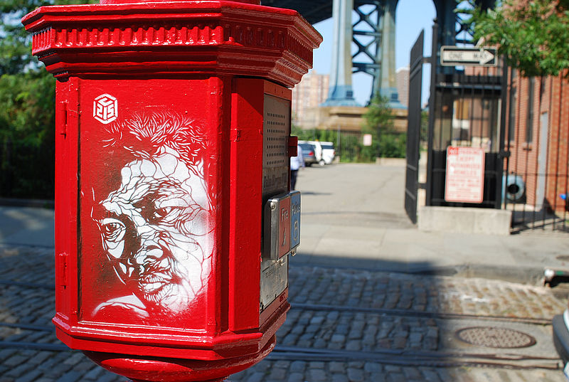 800px c215 brooklyn1 Graffiti Stencil Art by Street Artist C215