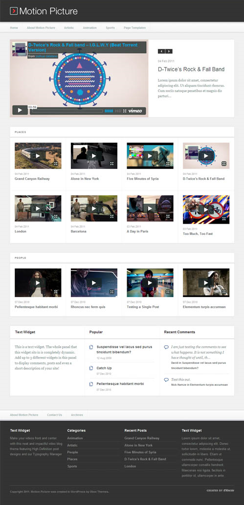 9 motion pictures wordpress themes 3 Top 15 Video Themes For Wordpress