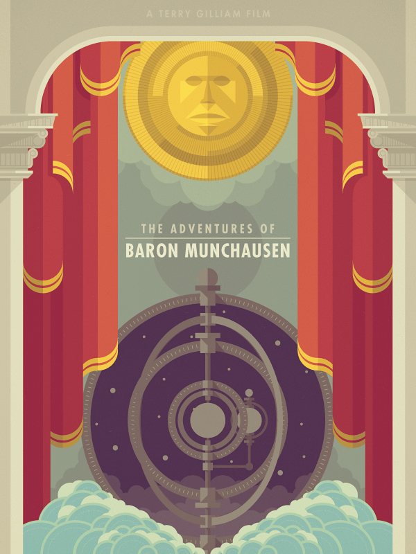 adventuresofbaronmunchausen Epic Illustrations by Justin Mezzell