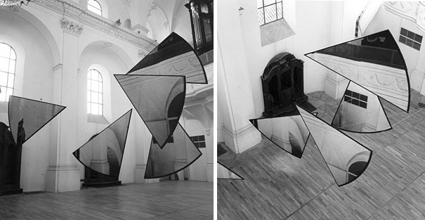 anamorphic illusions by felice varini 10 Breathtaking Anamorphic Illusions by Felice Varini