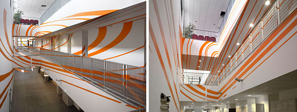 anamorphic illusions by felice varini 12 Breathtaking Anamorphic Illusions by Felice Varini