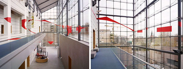 anamorphic illusions by felice varini 16 Breathtaking Anamorphic Illusions by Felice Varini
