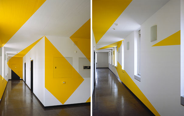 anamorphic illusions by felice varini 2 Breathtaking Anamorphic Illusions by Felice Varini
