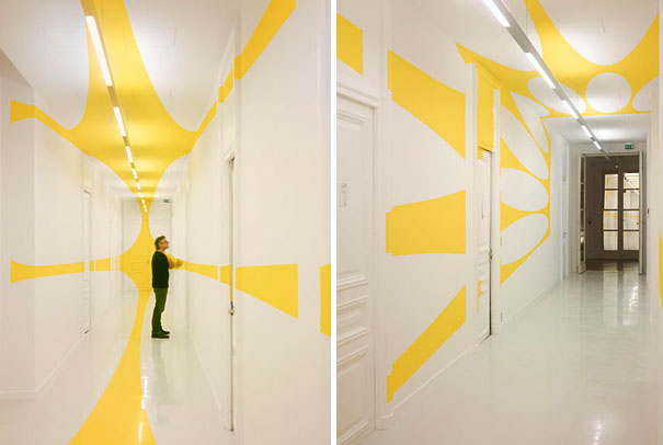 anamorphic illusions by felice varini 24 Breathtaking Anamorphic Illusions by Felice Varini