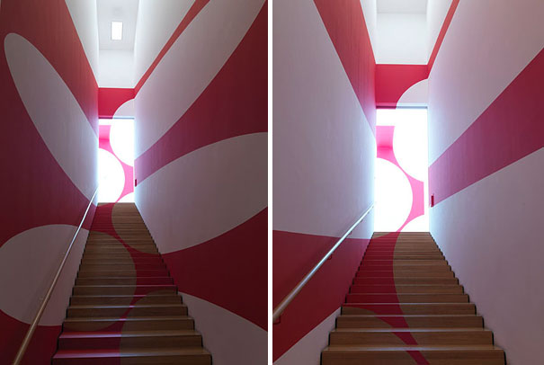 anamorphic illusions by felice varini 6 Breathtaking Anamorphic Illusions by Felice Varini