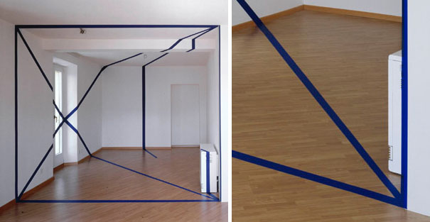 anamorphic illusions by felice varini 8 Breathtaking Anamorphic Illusions by Felice Varini