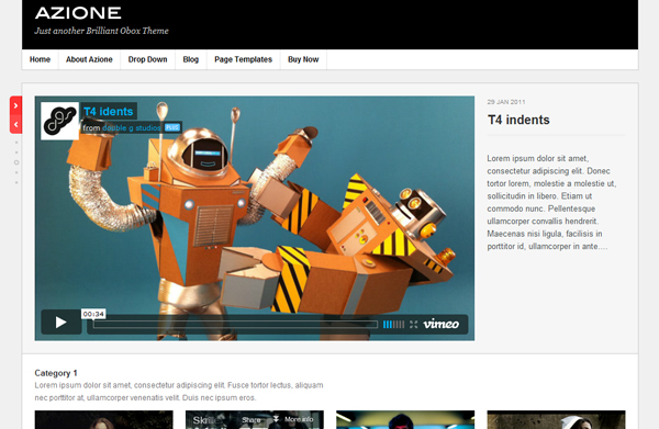 arione Top 15 Video Themes For Wordpress