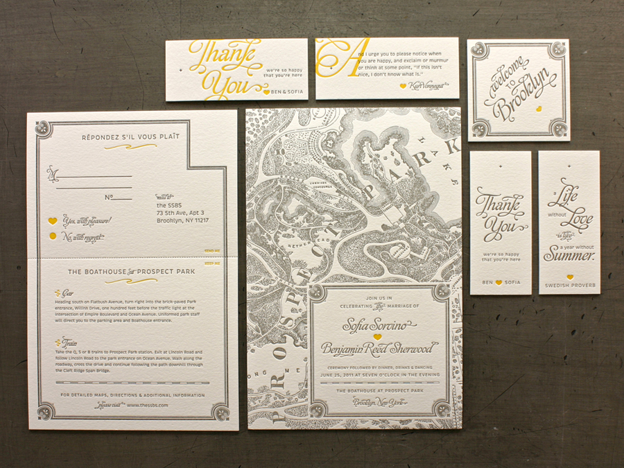 bensofia sof letterpress suite1 30 Uniquely Designed Wedding Invitations